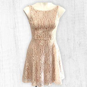 Sleeveless Cream Sparkle Dress